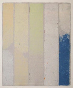 PK-0314, Kenneth Noland Striped Minimalist Work in Handmade Paper