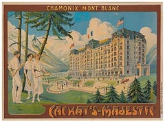 Vintage French Alps Poster at Mont Blanc Chamonix, France