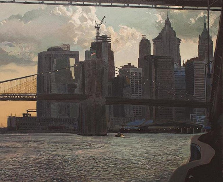 Charlie Meckel Landscape Painting - Twilight in the City