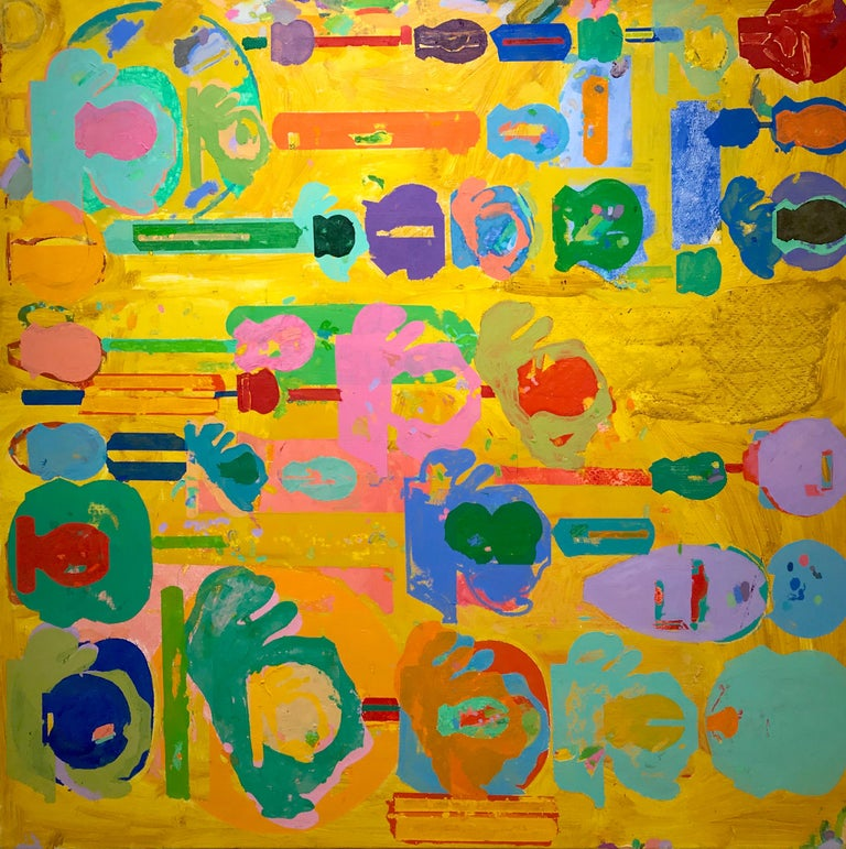 Al Peters Abstract Painting - Yellow Jones