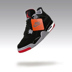 "In Flight (Air Jordan 4 Retro OG ""Bred"" 2019)"
