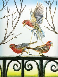 Finches (Framed)