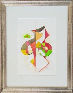 """Heinrich Neuy Watercolor """"Giusto"""", 1986"""