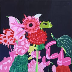 "Simon Habicht Oil On Canvas ""Summer Flowers"", 2019"