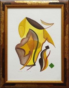 """Heinrich Neuy Watercolor """"comodo"""", 1986"""