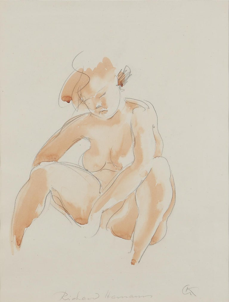 Seated Female Nude by Georg Kolbe, 1920's For Sale 1