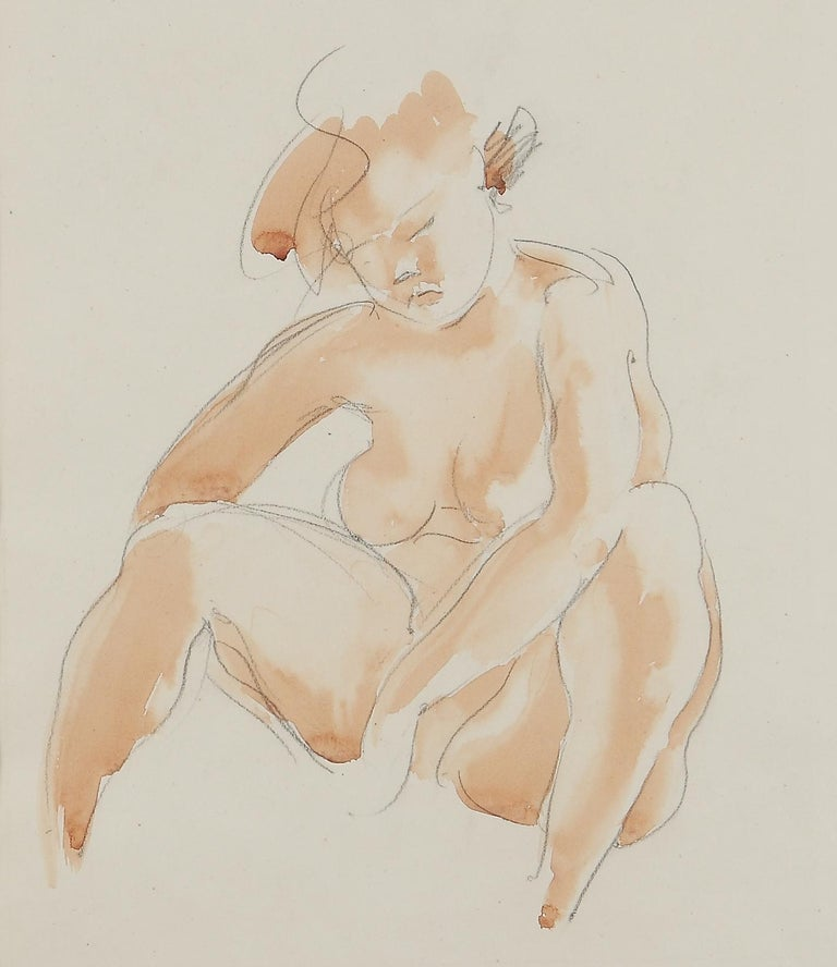 Seated Female Nude by Georg Kolbe, 1920's For Sale 2