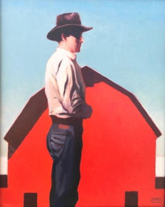 """Man With Red Barn"""