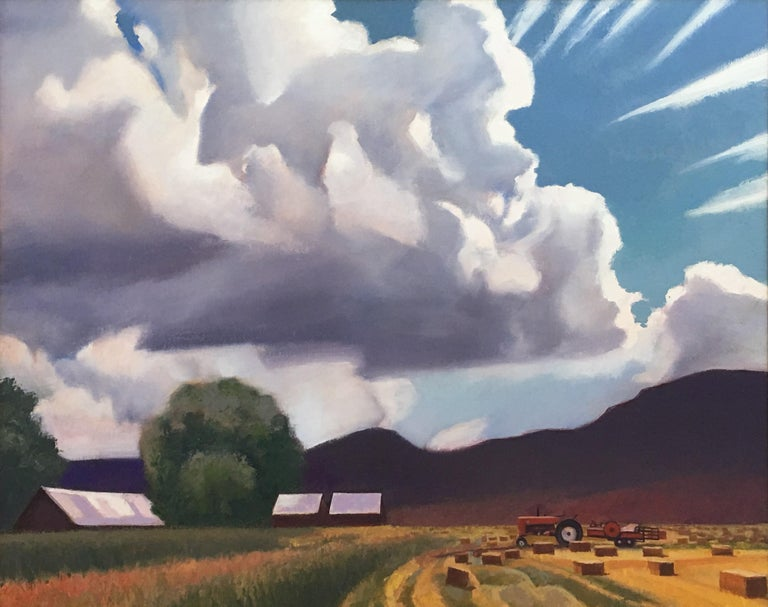 "Gary Ernest Smith Landscape Painting - ""Threatening Storm"""