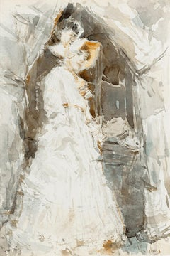 Lady in a White Dress