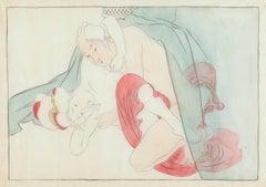 Japanese Shunga, Man and Woman Intertwined