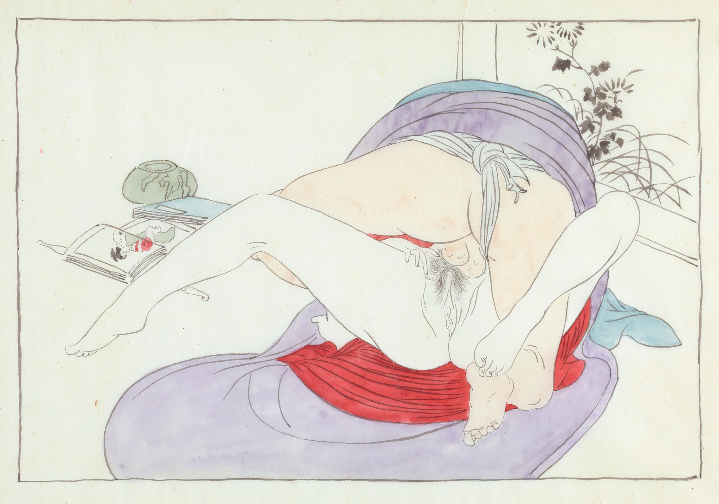 Japanese Shunga, Man and Woman Making Love