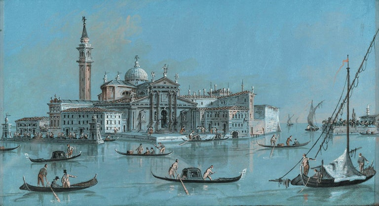 Giacomo Guardi  Landscape Art - View of San Giorgio Maggiore