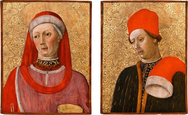 Bonifacio Bembo Portrait Painting - Saint Cosmas and Saint Damian