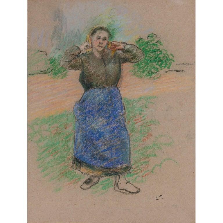 Camille Pissarro Portrait - Paysanne Nouant son Foulard (Peasant Arranging her Scarf)