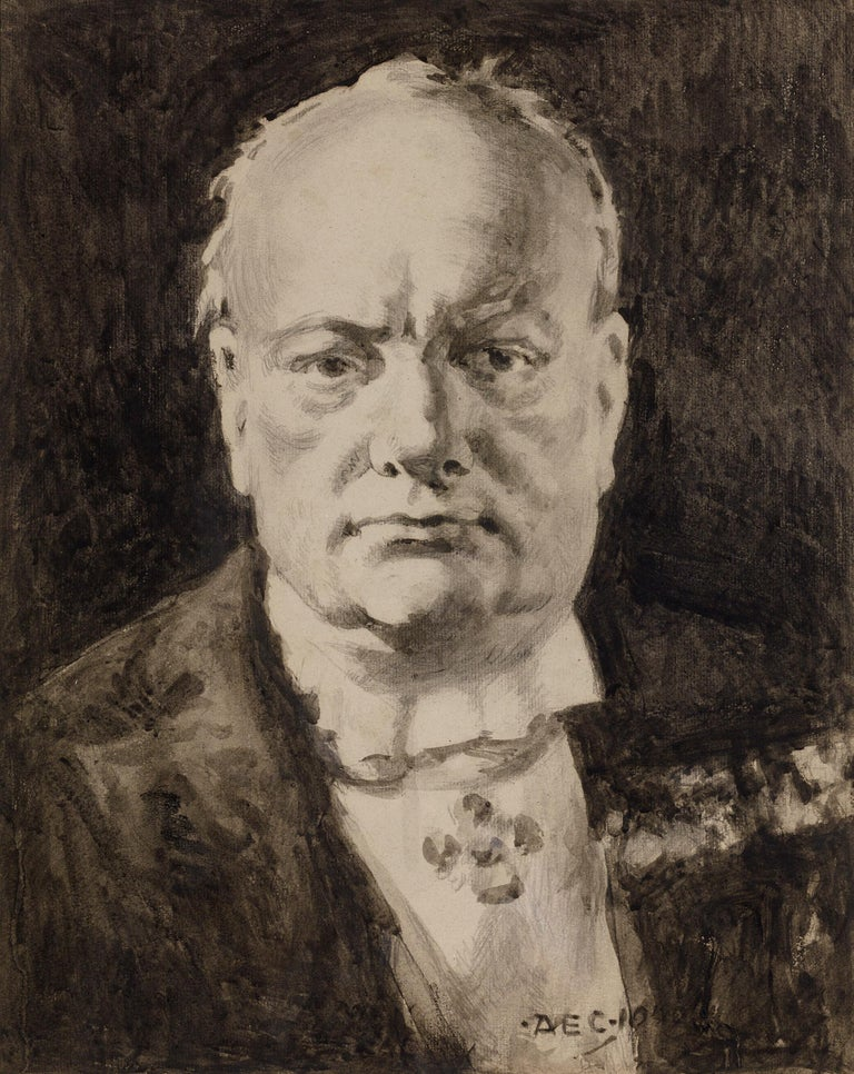 Portrait of Winston Churchill - Art by Alfred Egerton Cooper