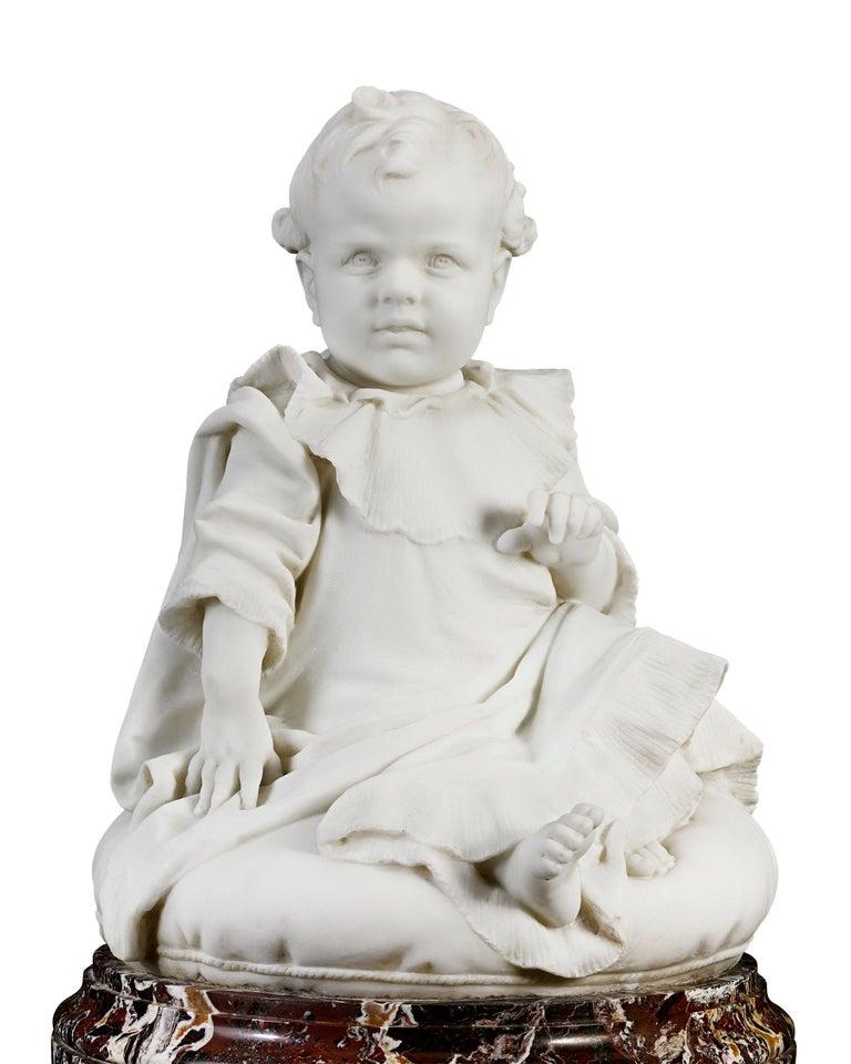 Bambino - Sculpture by Giulio Monteverde