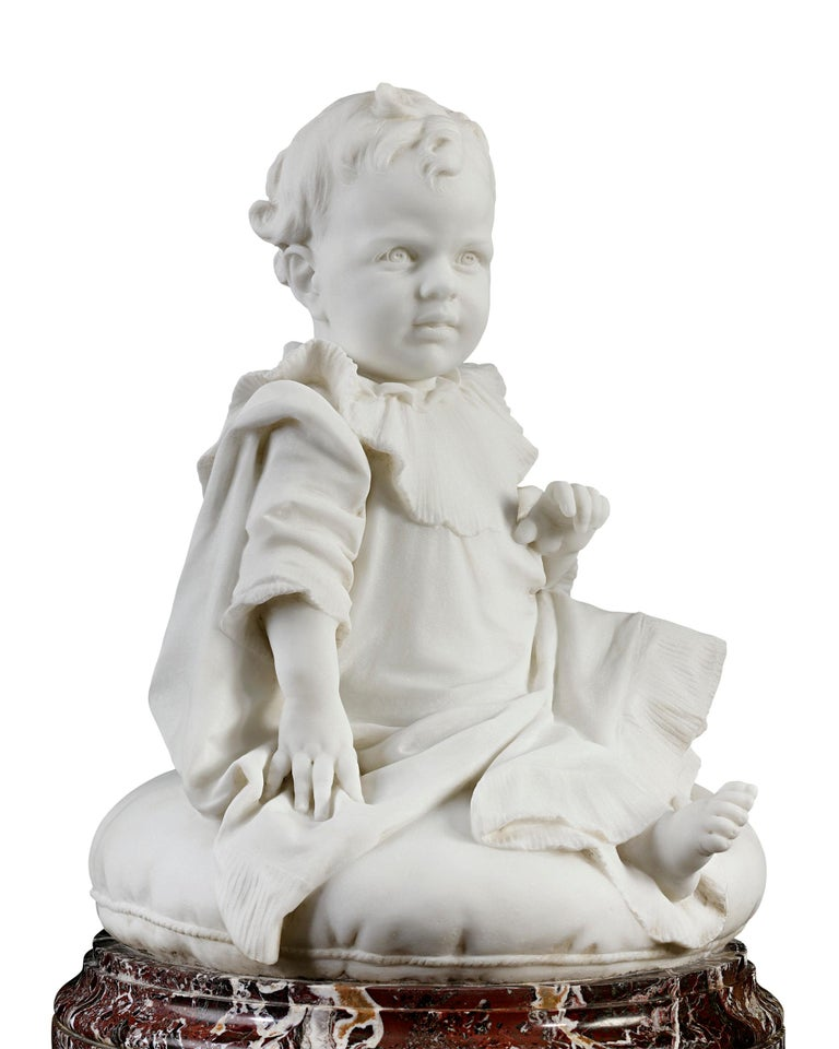 Bambino - Other Art Style Sculpture by Giulio Monteverde