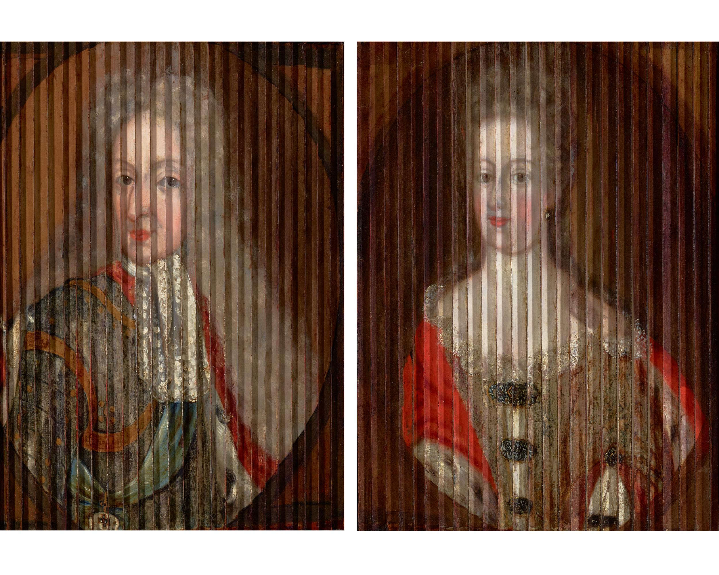 Double Portrait of King Frederik IV and Queen Louise of Mecklenburg-Güstrow of D