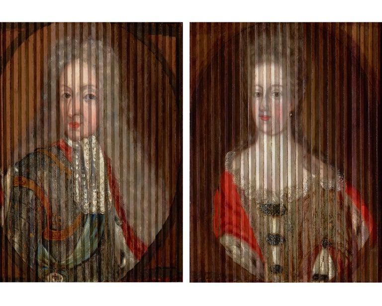 Gaspar Antoine de Bois-Clair Portrait Painting - Double Portrait of King Frederik IV and Queen Louise of Mecklenburg-Güstrow of D