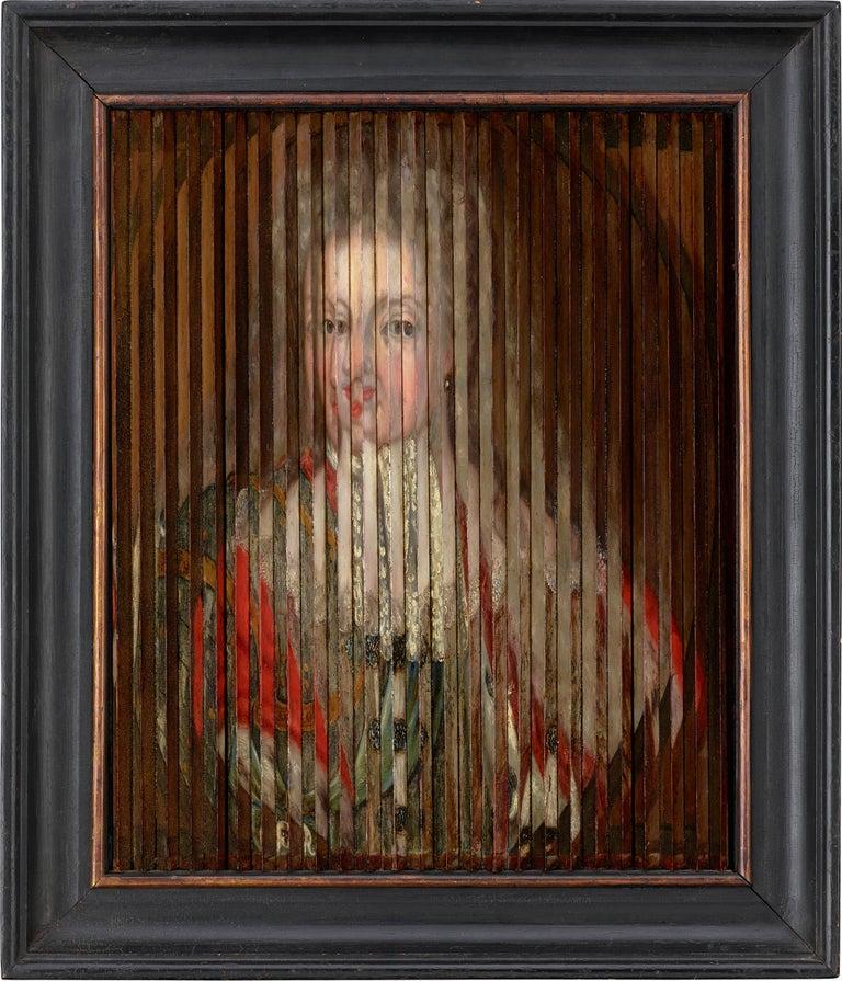 Double Portrait of King Frederik IV and Queen Louise of Mecklenburg-Güstrow of D - Painting by Gaspar Antoine de Bois-Clair