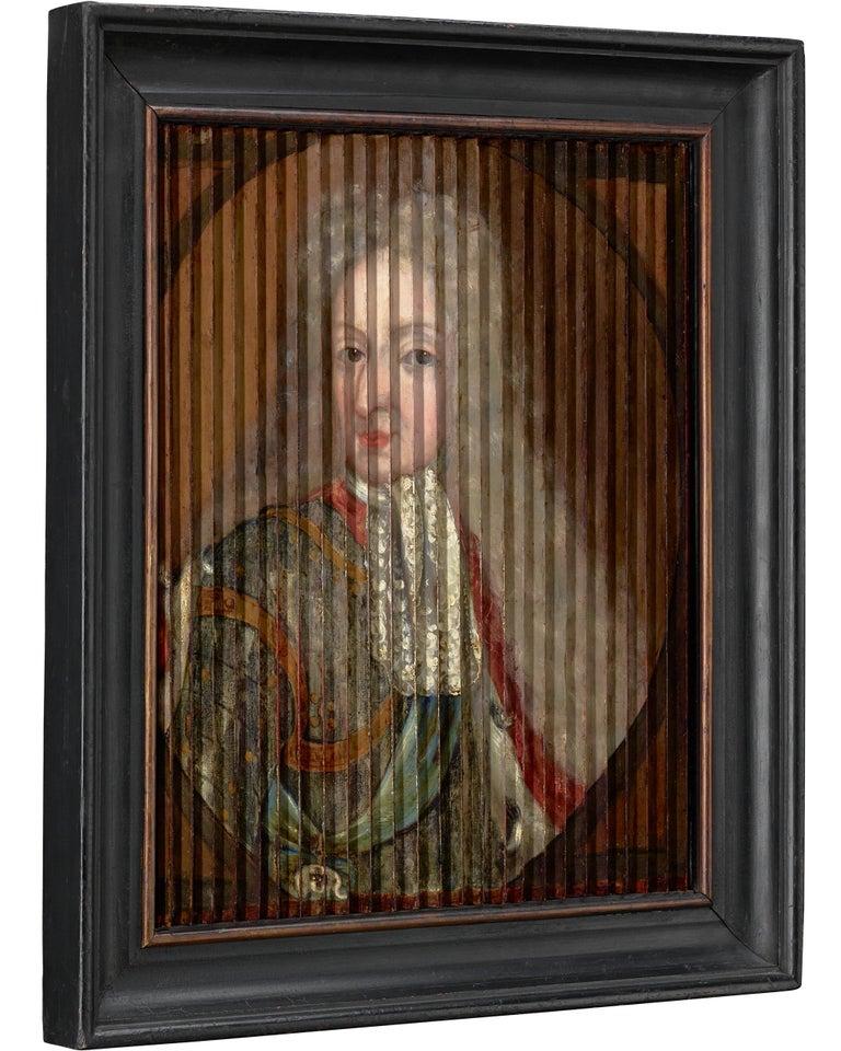 Double Portrait of King Frederik IV and Queen Louise of Mecklenburg-Güstrow of D - Academic Painting by Gaspar Antoine de Bois-Clair