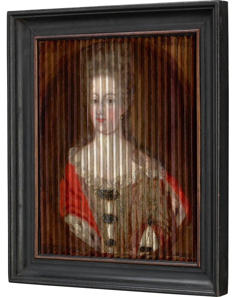 Double Portrait of King Frederik IV and Queen Louise of Mecklenburg-Güstrow of D - Brown Portrait Painting by Gaspar Antoine de Bois-Clair
