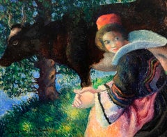 Bretonne à la Vache (Breton Woman with Cow)