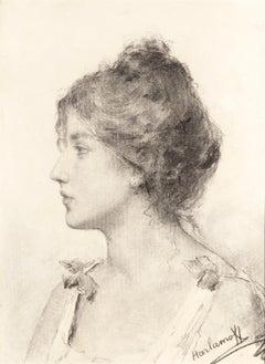 Portrait d'une Jeune Femme by Alexei Harlamoff