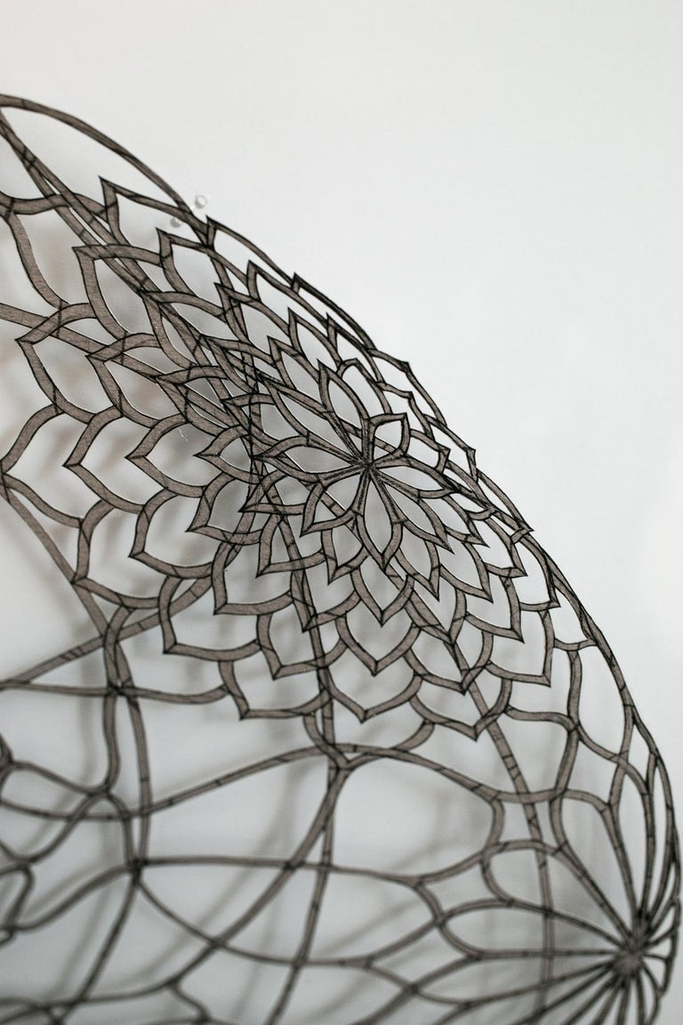 Undulating Flowering Ovum - Gray Figurative Art by Hunter Stabler