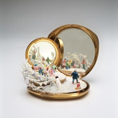 """""""Child's Play, Make Way, Replay"""", Miniature, compact mirror, sculpture, winter"""