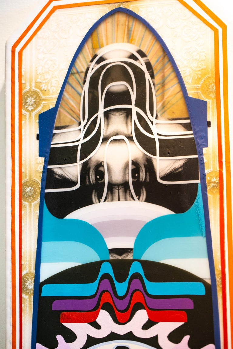 Long Board #1 - Contemporary Painting by Adam Crawford