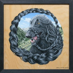 """Afghan Hound I (Hindu Kush Mountains)"", Figurative, Dog, Animal, Painting"
