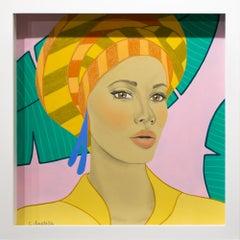 """Jade"", Figurative, Portrait, Acrylic, Chalk Pastel, Wax Pastel"
