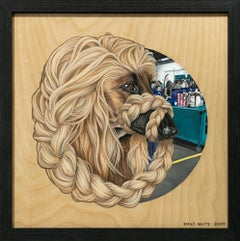 """Afghan Hound II (Somewhere in PA)"", Acrylic Painting, Dog Portrait, Realism"