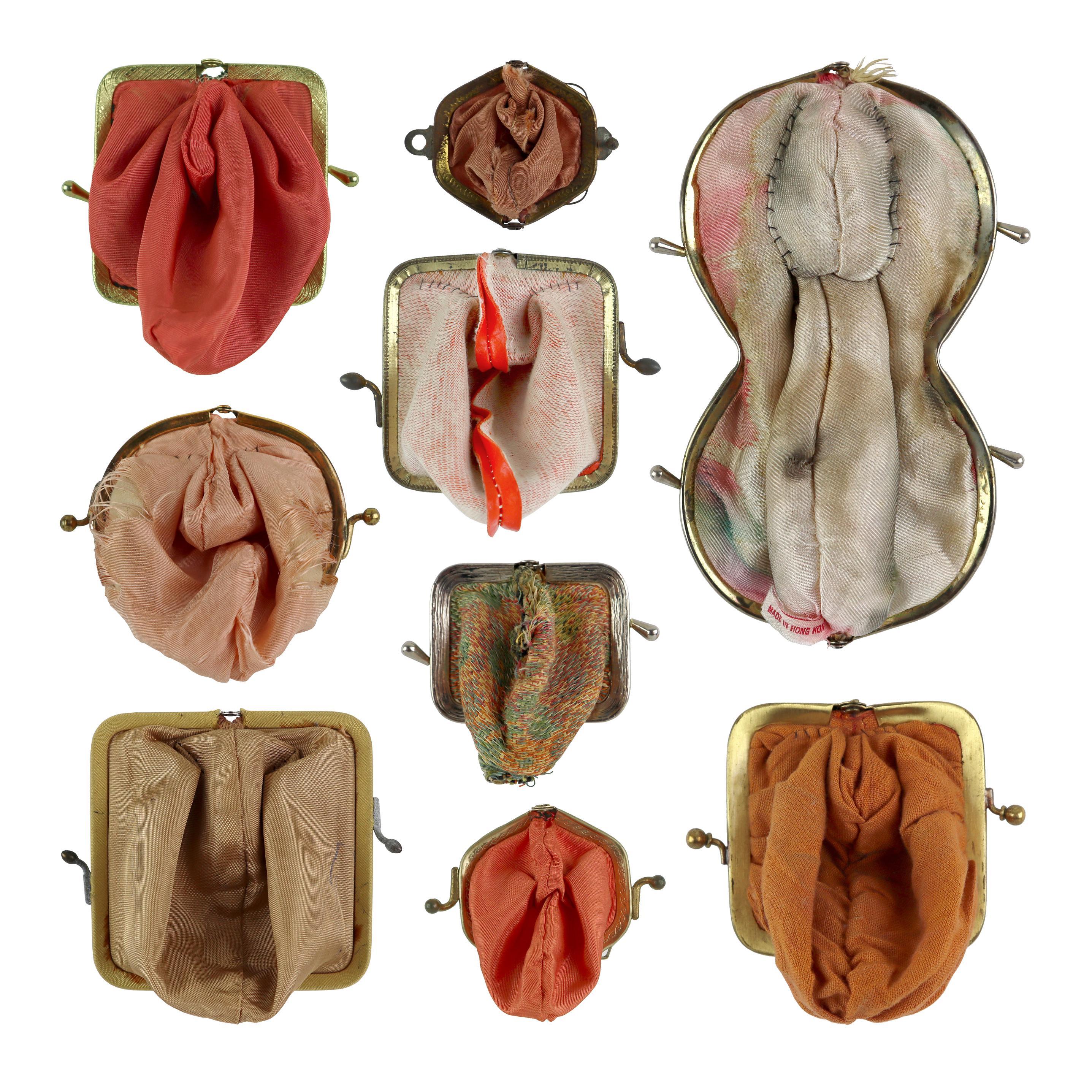 """""""Coin Cunts (impeaches & cream)"""", Kisslock Purse, Thread, Body Art, Textile"""