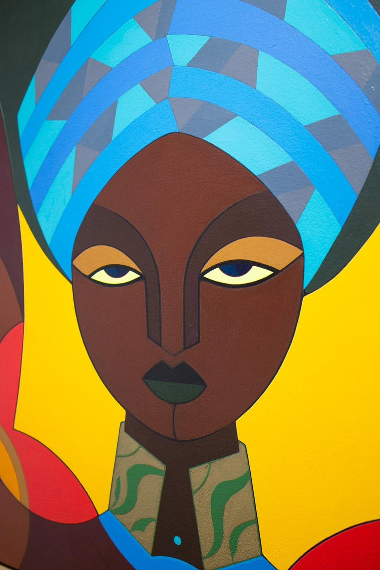 Femme au Turban - Painting by Claes Gabriel