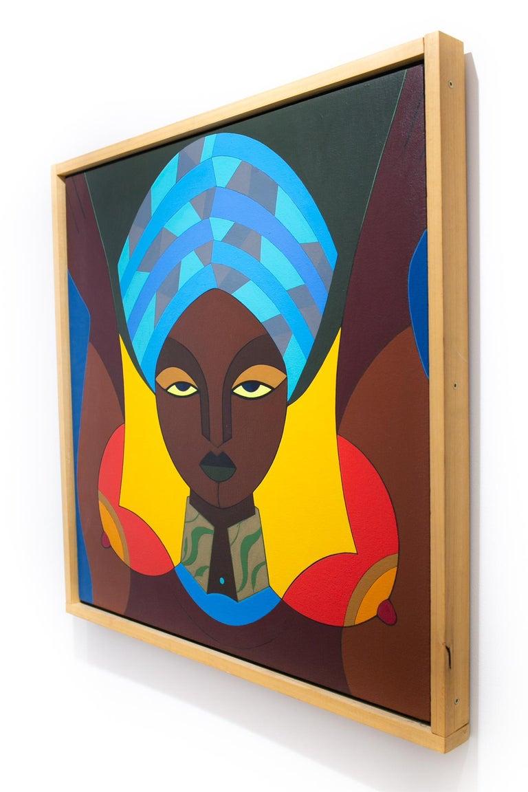 Femme au Turban - Black Portrait Painting by Claes Gabriel