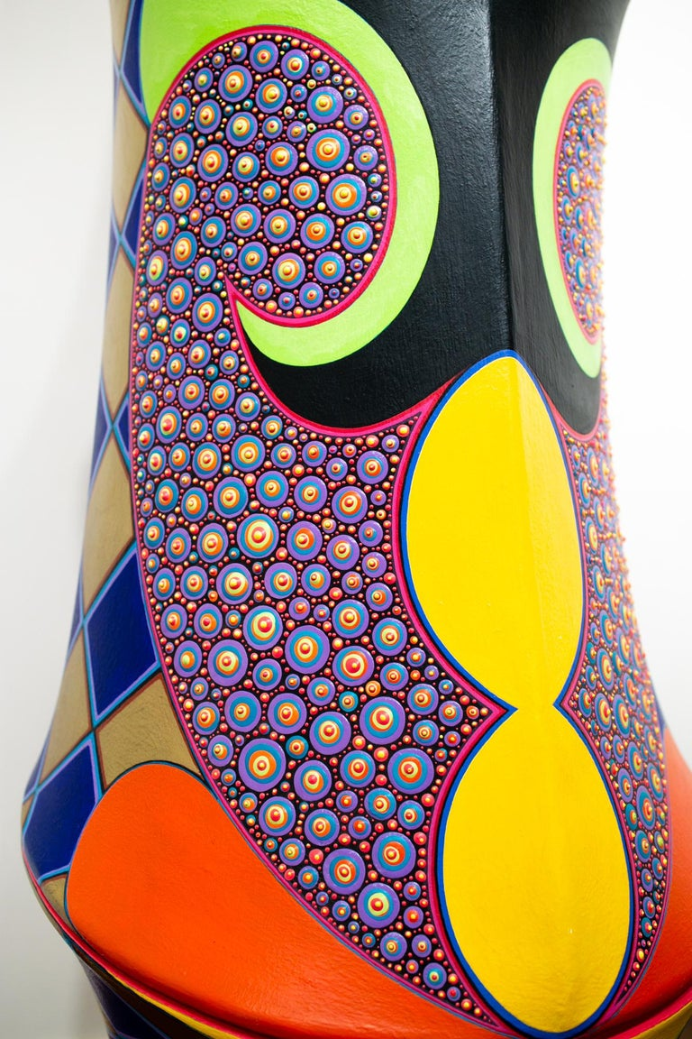 The Harlequin - Brown Abstract Sculpture by Claes Gabriel
