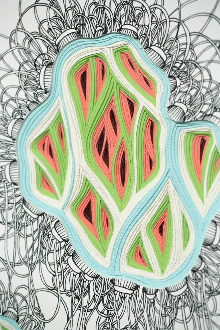 Double Diddle Phlebotomy Movement #12 - Gray Abstract Drawing by Charles Clary