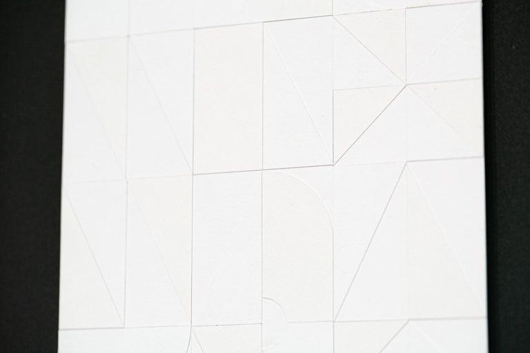 A New Day #4 - Gray Abstract Sculpture by Scott Albrecht