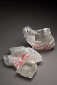 """Take Out (Thank You Thank You Thank You)"", Glass and Lithograph Sculpture"