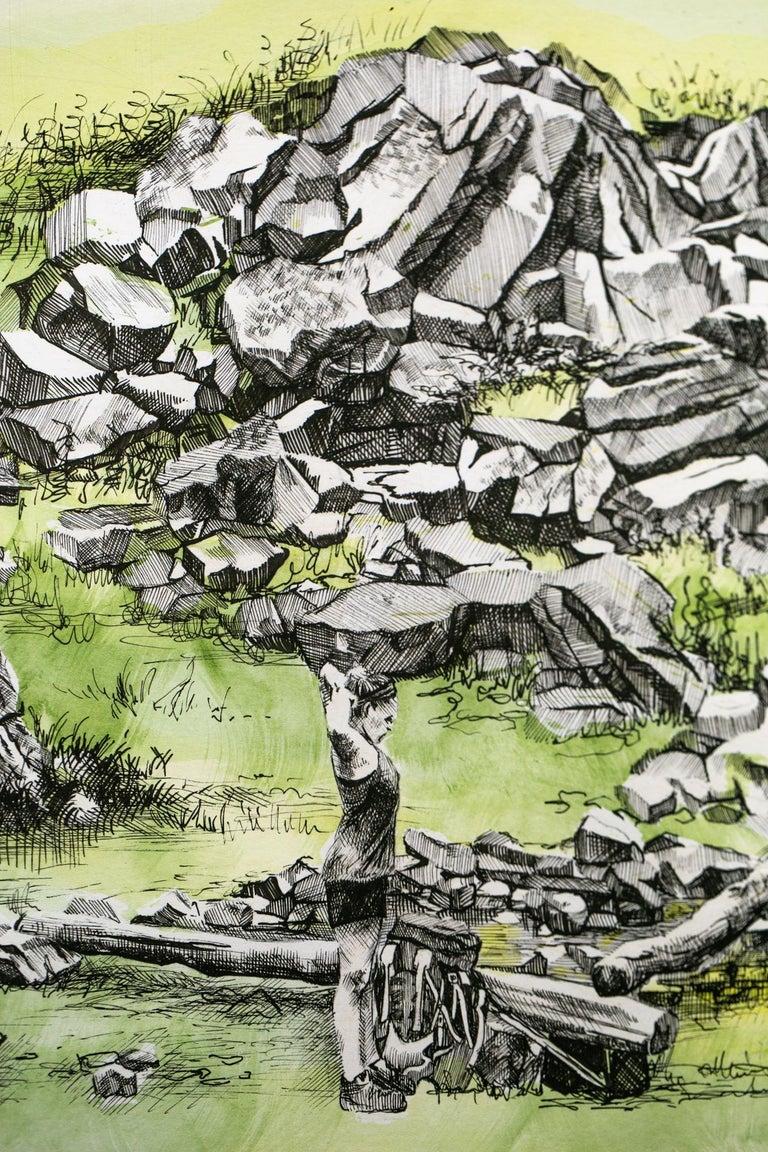William Brien Memorial Shelter, New York, [ 41.2796N, 74.0594W ] - Beige Landscape Art by Sarah Kaizar