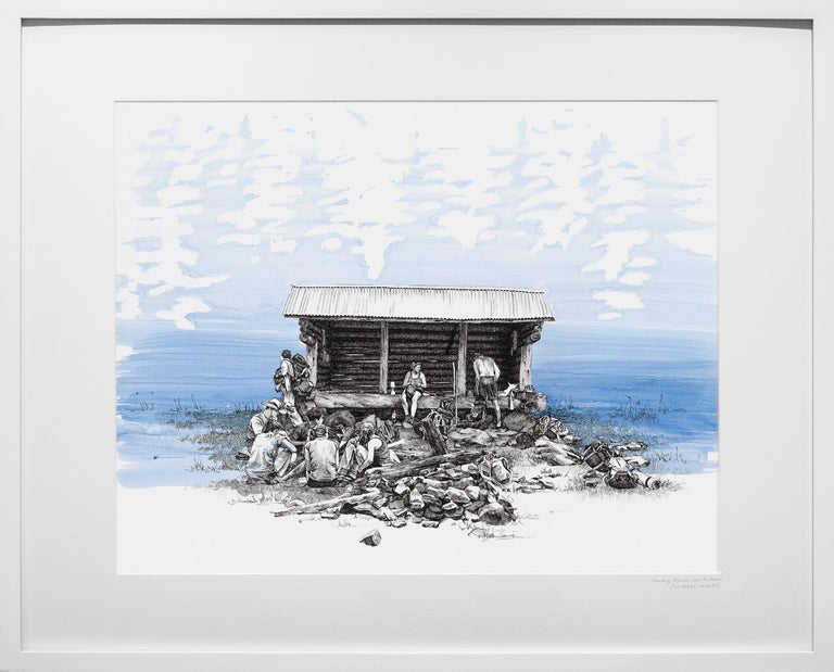 Spaulding Mountain Lean-To, Maine, [ 44.99577, -70.34134 ] - Art by Sarah Kaizar