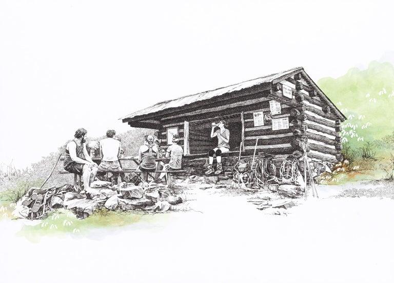 Pine Knob Shelter, Maryland, [ 39.54249, -77.60181 ] - Art by Sarah Kaizar