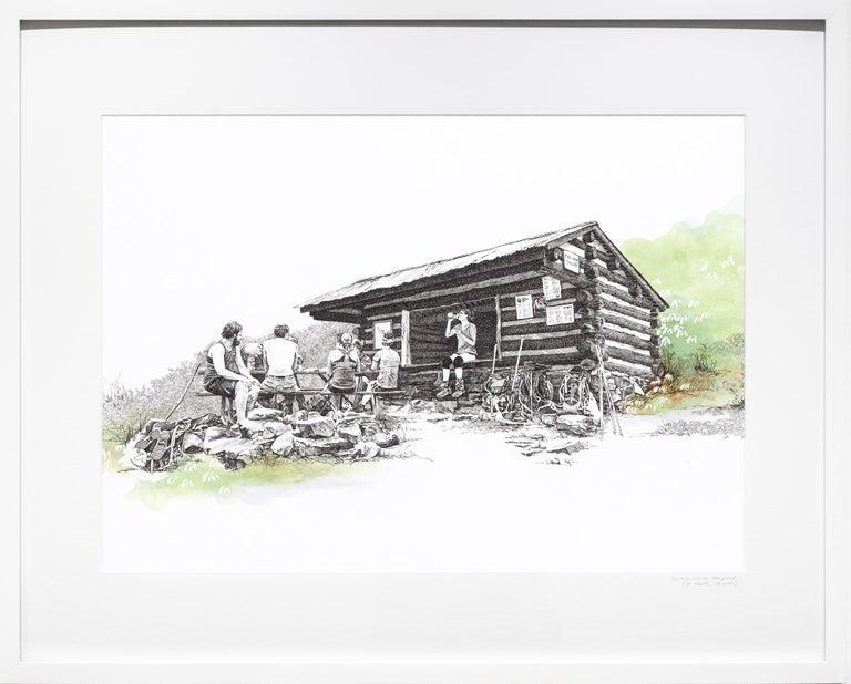 Sarah Kaizar Figurative Art - Pine Knob Shelter, Maryland, [ 39.54249, -77.60181 ]