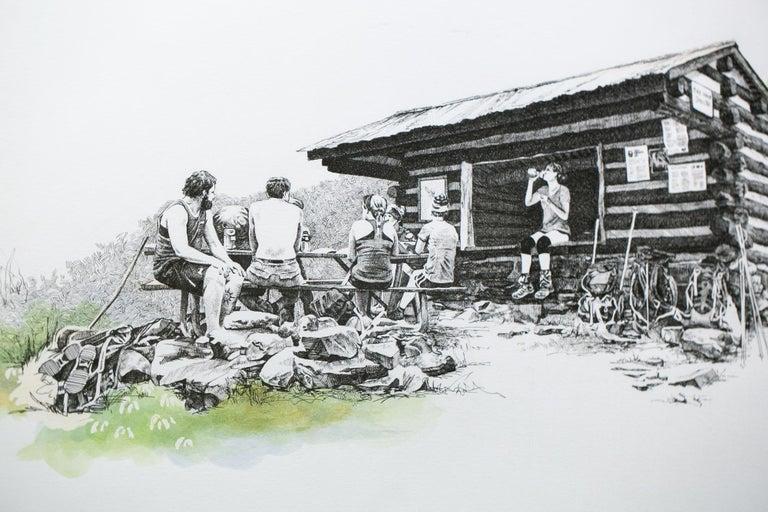 Pine Knob Shelter, Maryland, [ 39.54249, -77.60181 ] - Contemporary Art by Sarah Kaizar
