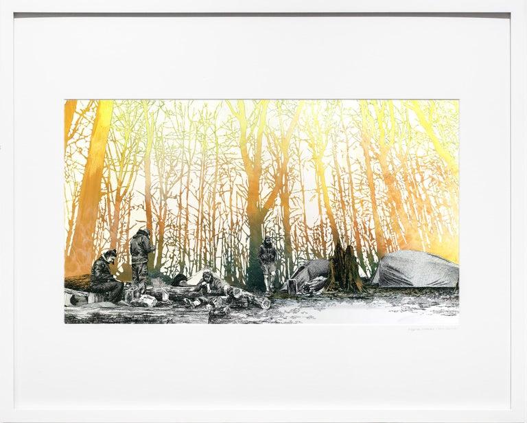 Ridgeline camp, North Carolina - Art by Sarah Kaizar