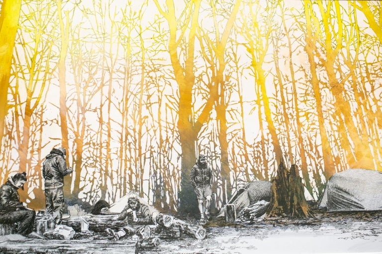 Ridgeline camp, North Carolina - Contemporary Art by Sarah Kaizar