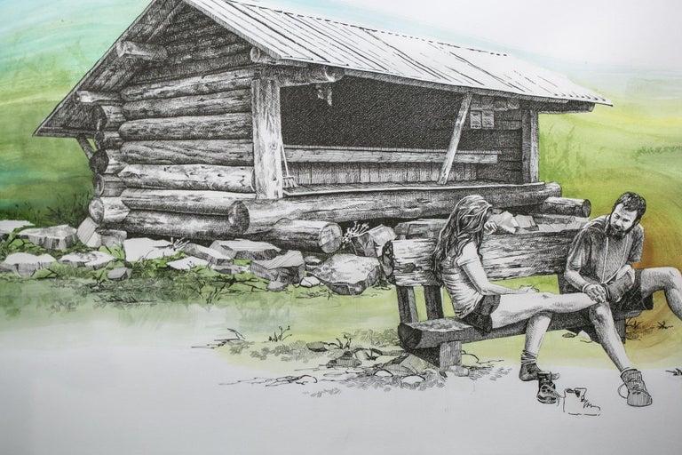 Peru Peak, Vermont, [ 43.3012, -72.95184 ] - Contemporary Art by Sarah Kaizar